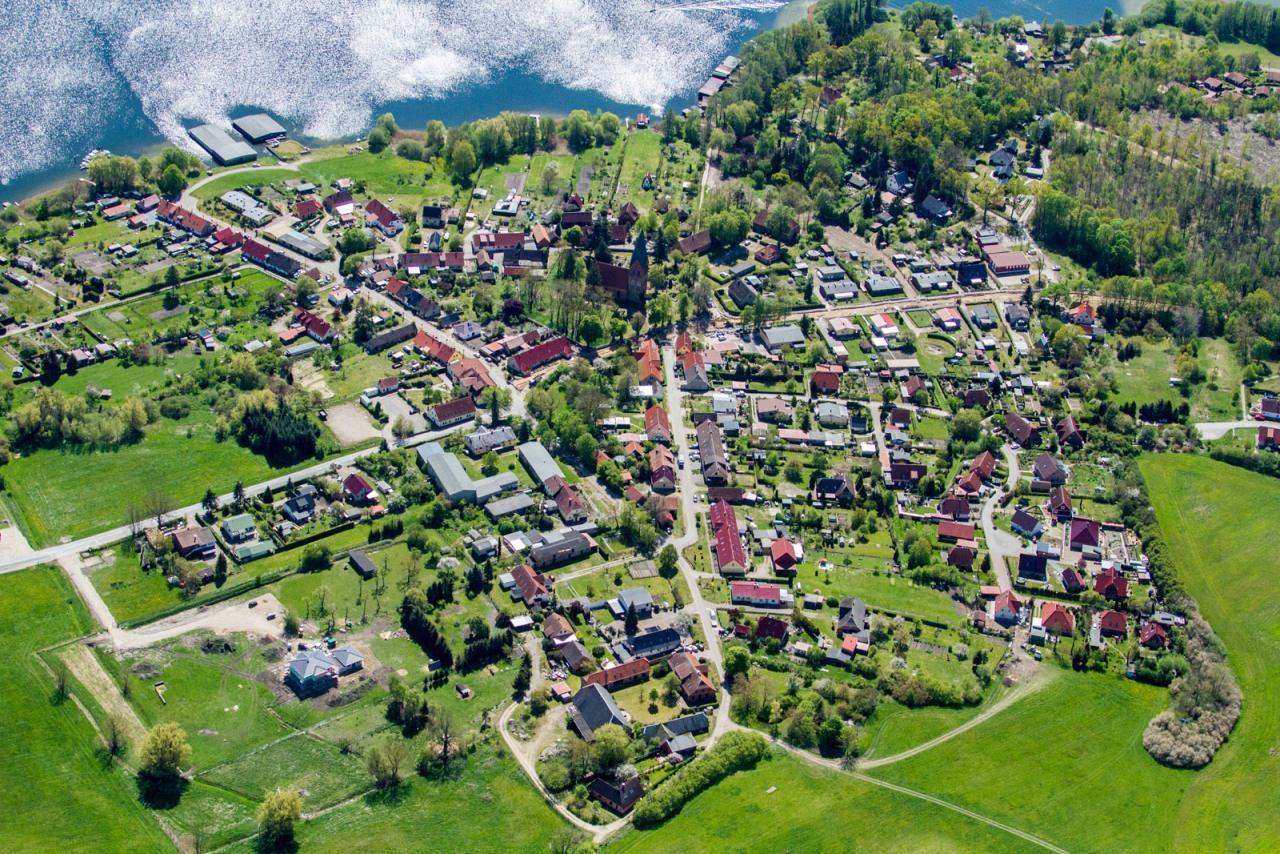 Luftbildaufnahme der Gemeinde Jabel